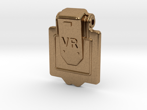 VR Axlebox Oil Cover Lid - 1' scale in Natural Brass