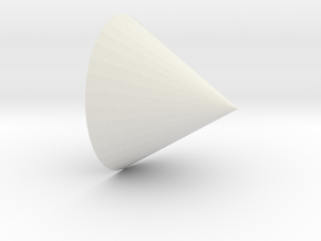 cone in White Natural Versatile Plastic