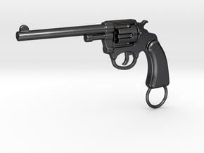 Gun keychain Colt in Polished and Bronzed Black Steel