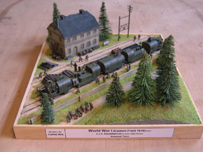 1/144th scale Armoured Steam Locomotive in Smooth Fine Detail Plastic