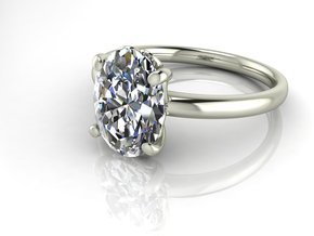 Classic Solitaire 27 NO STONES SUPPLIED in Fine Detail Polished Silver