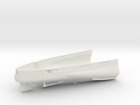 1/350 USS Oklahoma (1941) Stern in White Natural Versatile Plastic