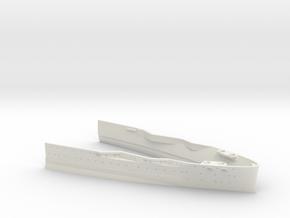 1/350 USS Oklahoma (1941) Bow Waterline in White Natural Versatile Plastic