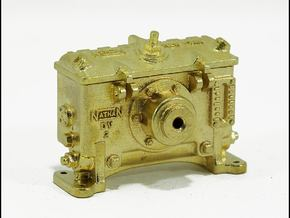 Nathan DV2 Lubricator - 1' scale in Natural Brass