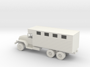 1/72 Scale M291 Expansible Van Truck in White Natural Versatile Plastic