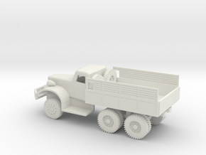 1/72 Scale Diamond T Cargo Truck in White Natural Versatile Plastic