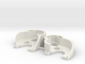 SCX24 130 and 370 motor plates in White Natural Versatile Plastic