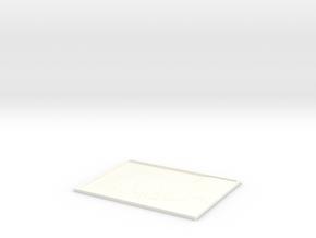 Albert Einstein Lithophane in White Processed Versatile Plastic