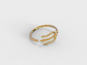 Trident Ring in 18k Gold Plated Brass: 5 / 49