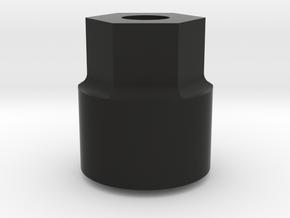 Lunch Box Wheel Adaptor in Black Natural Versatile Plastic