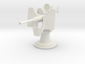 1/24 USN Oerlikon 20 mm Single Mk 4 in White Natural Versatile Plastic