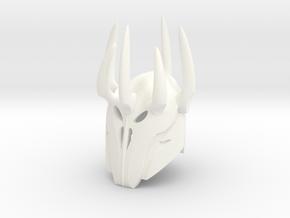 Sauron Lord Of The Rings Custom Mini Block Figure  in White Processed Versatile Plastic