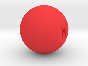 Mix knob in Red Processed Versatile Plastic