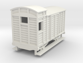 o-re-76-eskdale-brake-van in White Natural Versatile Plastic