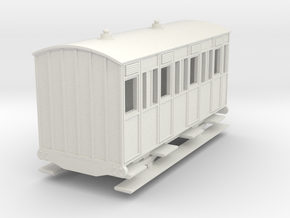 o-re-100-eskdale-3rd-class-coach in White Natural Versatile Plastic