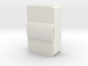 Box Bottom Pin Closure in White Natural Versatile Plastic