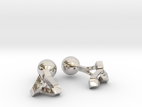 Penrose Triangle Cufflinks in Platinum