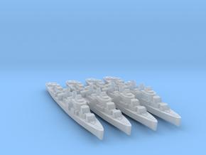 4pk sprue USS Allen M. Sumner 1944 1:1800 WW2 in Smoothest Fine Detail Plastic
