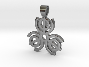 All in one [pendant] in Polished Silver