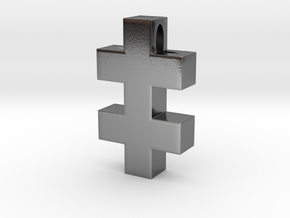 Plus Plus [pendant] in Polished Silver