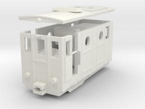 Schynige Platte Bahn HE 2/2  free wheel open  in White Natural Versatile Plastic