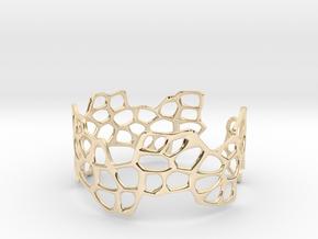 Cells Bracelet (open, 64mm) in 14K Yellow Gold