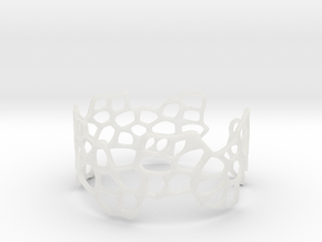 Cells Bracelet (open, 64mm) in Smooth Fine Detail Plastic