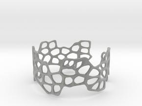 Cells Bracelet (open, 64mm) in Metallic Plastic