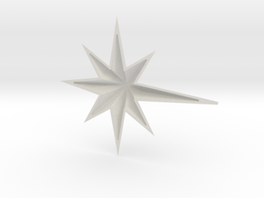 Christmas Star Part 1 in White Natural Versatile Plastic