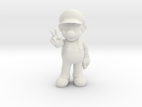 Mario in White Natural Versatile Plastic