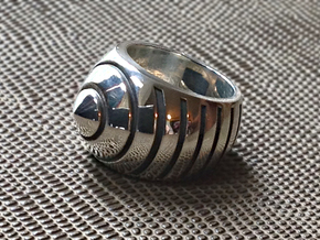 Bumble Bee Ring - Size  9 1/2 (19.35 mm) in Polished Silver