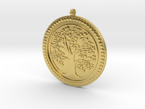 Tree of Life Pendant KTPF01 by KTkaRAJ in Polished Brass