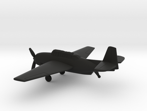 Grumman TBF Avenger / General Motors TBM in Black Natural Versatile Plastic: 1:160 - N