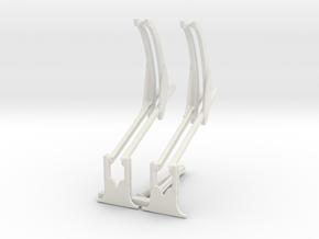 Davit set with support in White Natural Versatile Plastic