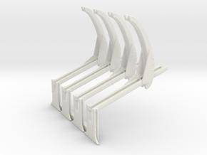 1-144th Scale Davit Assemblys in White Natural Versatile Plastic