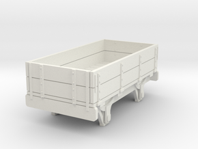 0-re-87-eskdale-2-plank-wagon in White Natural Versatile Plastic