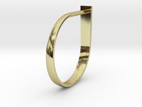 Ring Eye 05 in 18k Gold Plated Brass