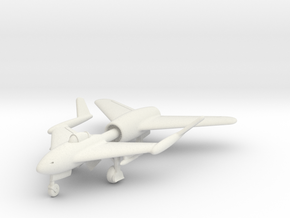 (1:144) DVL Composite Jet fighter (Central boom) in White Natural Versatile Plastic