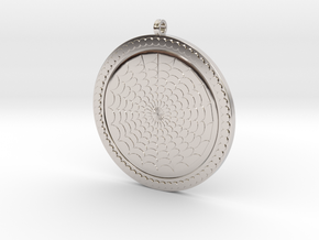 Geometric Pendant KTPF03 3D Model STL in Rhodium Plated Brass
