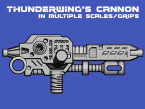 Thunderwing's Cyclone Cannon (3mm, 5mm) in White Natural Versatile Plastic: Medium