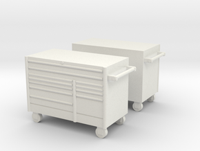 1/50th 5' Mechanics tool chest cabinet (2) in White Natural Versatile Plastic