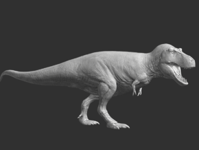 Tyrannosaurus rex Model 1/85 or 1/50 Scale V2 in White Natural Versatile Plastic: Small