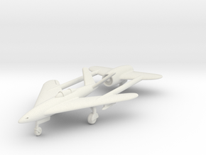 (1:144) DVL Composite Jet fighter (Twin boom) in White Natural Versatile Plastic