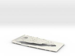 1/350 USS Oklahoma (1941) Bow Deck in White Natural Versatile Plastic