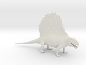 Dimetrodon 1/25 Scale Model in White Natural Versatile Plastic