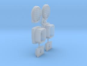 Tamiya CC-01 Jeep - Light Set & Whip Antenna Base in Smooth Fine Detail Plastic