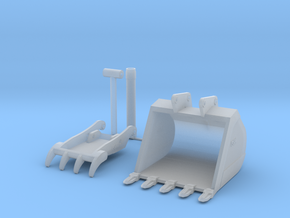 1/50 690 Bucket and Thumb  in Smooth Fine Detail Plastic