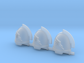 Wing Aggressive shoulder pads x3 R in Smooth Fine Detail Plastic
