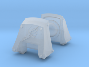 Wing Count Dreadnought shoulder pads #2 L in Smooth Fine Detail Plastic
