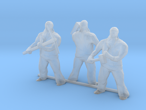 HO Scale Three Men with Tools in Smooth Fine Detail Plastic